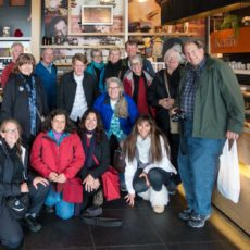 Happy Group after Chocolate Samples at Mosfellsbakarí
