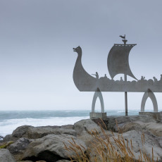 Viking Memorial on Iceland's South Shore