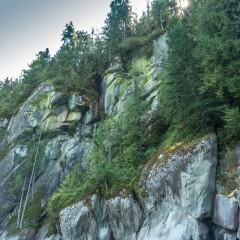 Cliffs along Toba Arm