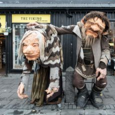 Hag and Ogre seen on the Streets of Reykjavik