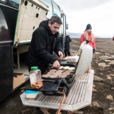 Orvar Preparing Barbecue at Glacier