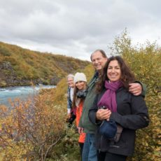 Julie B, Karin, Jeff & Fran at Bruafoss River