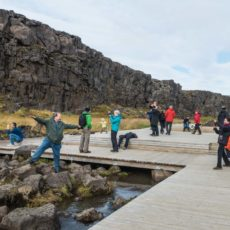 Having Fun at  Þingvellir National Park