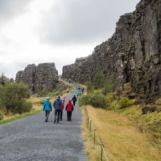 Hiking on the Mid-Atlantic Ridge in  Þingvellir National Park
