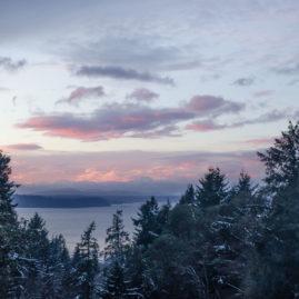 1/1/2017 New Year's Day Sunset from Burien over Vashon Island