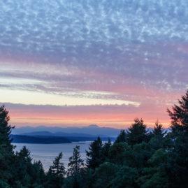 July Sunset over Vashon Island from Burien, WA