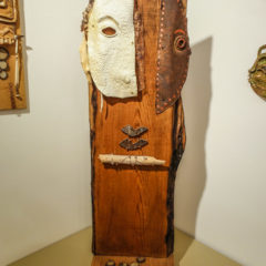 Art from the Maryhill Museum Collection,  by Lillian Pitt, a Native American artist from the Columbia River region