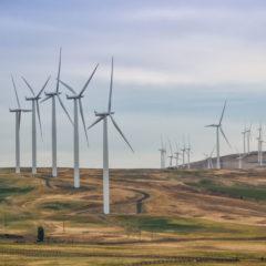 August 20, 2017 Nearing Goldendale, WA -- Wind Generators