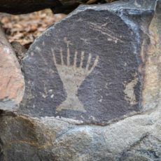 Petroglyph on the Columbia River near Vantage, WA.