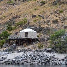 Yurt on the Banks of the Snake River in Hell's Canyon