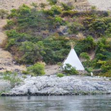 Tepee on the Banks of the Snake River in Hell's Canyon
